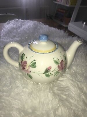 Hand Painted Laura Ashley Teapot - Floral Large