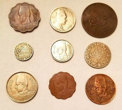 Egypt 12 assorted coins lot