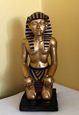 Antique Egyptian statue Carved Stone Schist  Stunning