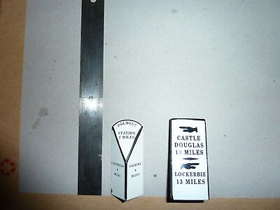 Pair of Toy Cast Metal Miniature Roadsigns.