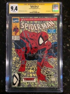 Spiderman 1 Cgc 9.4 Ss Signature Series Signed Todd Mcfarlane White Pages