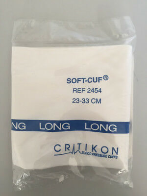 Critikon 2454 Soft-Cuf Blood Pressure Cuffs Adult Long 23-33 CM