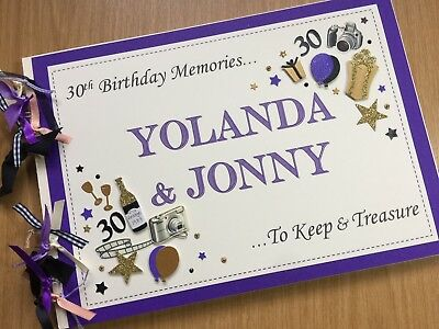 GUEST BOOK For Men Women Birthday Party PERSONALISED Album 21st 30th 40th 50th