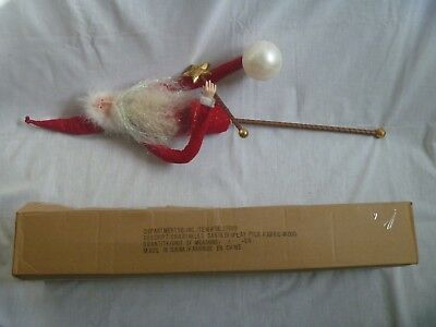 "DEPARTMENT 56 KRINKLES SANTA TALL PICK DISPLAY, NIB, #56.37889, 29"", Fur/Felt"