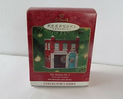 2001 ~Hallmark Ornament Fire Station No.1 Town & Country Collector's Series