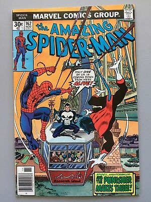 Amazing Spider-Man 162 (VF 1976)Punisher;Nightcrawler;Jigsaw 1st Full Appearance