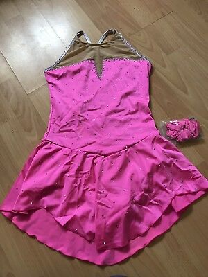 Brand New Ladies Small Pink Ice Skating Dress / Baton Twirling Dance Costume