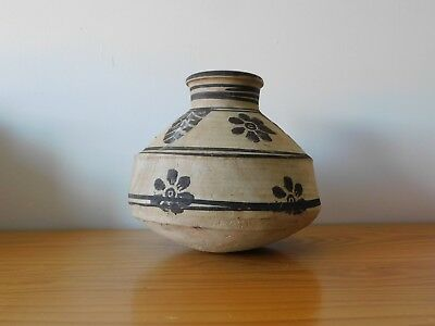 Antique Pre Columbian Pottery Round Belly Pot Vase