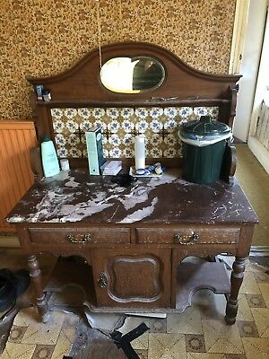 Vintage Marble And Tile Wash Stand