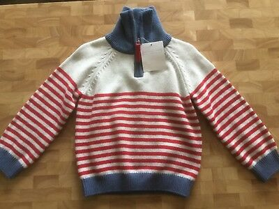 BNWT Little White Company Baby Boy Knitted Striped Jumper 12-18 months