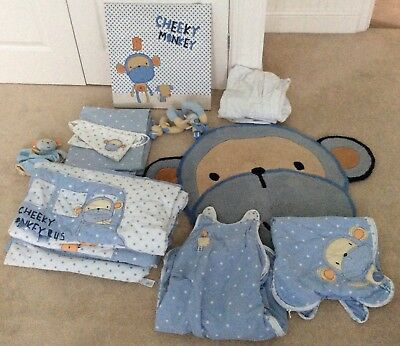 Gorgeous Baby Boy's NEXT Complete Bedroom Set - Bedding, Curtains, Rug etc