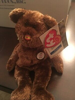 Ty Beanie Baby Champion Bear Spain - New With Tags