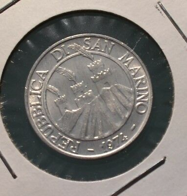 San Marino 1974 10 Lire Coin FAO Issue Great Condition-  N50
