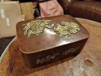 Meiji Period Copper & Brass Japanese Stationery Box c.1900