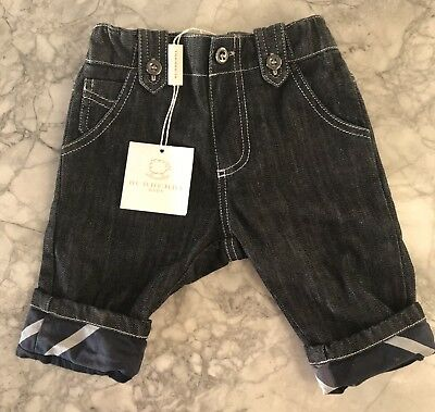 BNWT Burberry Baby Trousers Jeans 3months Blue Marine