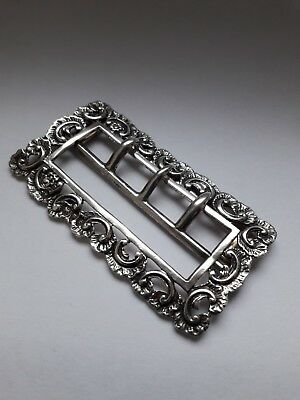 Victorian Sterling Silver Large Belt Buckle-WILLIAM COMYNS London 1893. 28.7g!