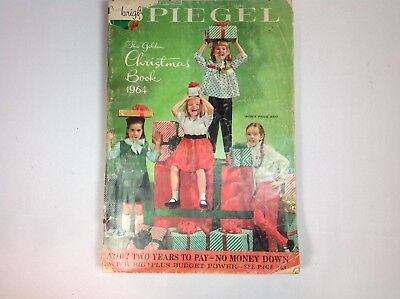 "1964 Spiegel ""The Christmas Book ..catalog book wishbook dolls toys 395 PGS."