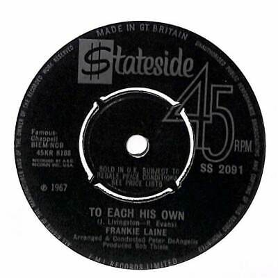 "Frankie Laine - To Each His Own - 7"" Record Single"
