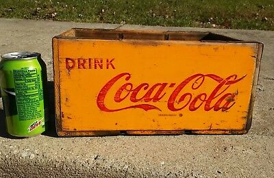 VINTAGE 1956 Family Size Coca Cola Wood Crate Perry FL advertising Rare Size
