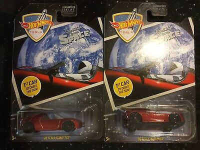 2019 Hot Wheels '08 Tesla Roadster Greeting From Space x2