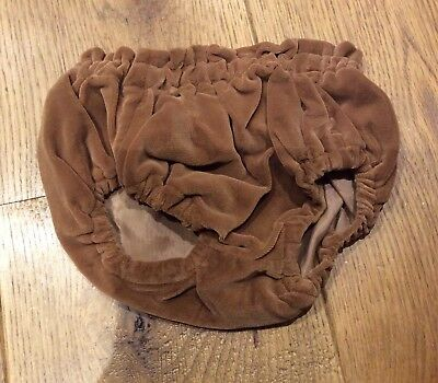 Vintage Baby Bloomers In Brown Velvet Size 6-12 Months Boys Or Girls