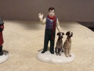Dept 56 REPLACEMENT  - Vision of A Christmas Past - #58173 Man and Dogs ONLY