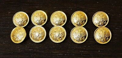 MILITARY RUSSIAN OFFICIAL UNIFORM BUTTONS IMPERIAL EAGLE 10 PCs 22 mm