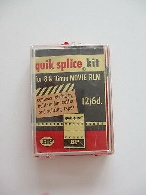 Vintage Plastic HP Quick Splice Kit for 8mm Film Splicing Made in USA