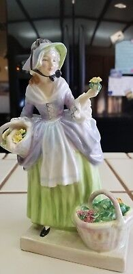 """Vintage Royal Doulton Hand Painted Figurine """" Spring Flowers """" Hn1807 - Mint"""