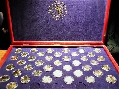 24Kt Gold  State Quarters In Wooden Case With Cert 40 Of 50 New @ No Reserve !!!