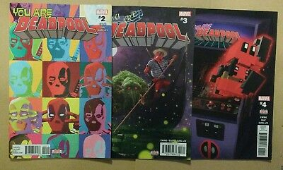 You Are Deadpool x 3 Issues #2 #3 #4 Marvel Comics Lot 1st Prints 2018