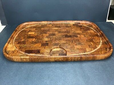 LARGE DIGSMED DENMARK Danish Modern MCM TEAK WOOD Serving Platter Cutting Board