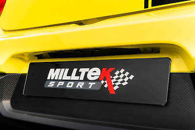 Milltek Sport Black Number Plate For Owners Fans Shows Track Events Photo Shoots