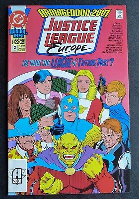 Justice League Europe Annual #2 - 1991 DC Comics - VF+ VF/NM Very Fine - Rogers