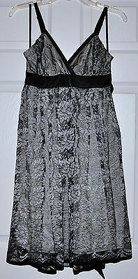 Girl Women Floral LACE Gray Silver Black Prom Club Cocktail Party Dress w/ Belt