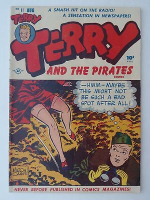 TERRY and the PIRATES #11 & 21 (4.0) 1950s HARVEY COMICS! MAN IN BLACK APP