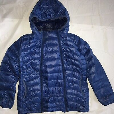 Mamaway Parka Down Coat Babywearing Maternity Jacket Sz S Small Blue Warm