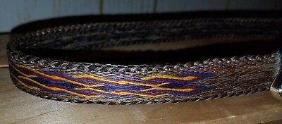 Womans Hitched Horse Hair Montana Prison Made Belt