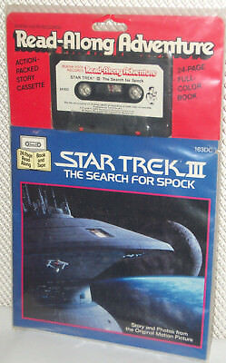 Vintage 1984 Star Trek III The Search for Spock Read-Along Book and Cassette Set