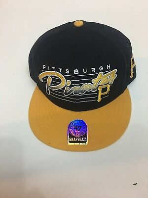 various colors d5962 822d8 Pittsburgh Pirates 47 Brand MLB Baseball Triple Crown Snapback Cap Hat