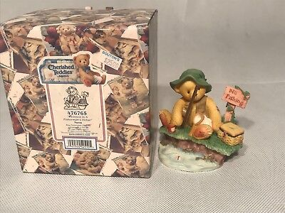 New in Box Cherished Teddies ~ Patience is a Fisherman's Virtue Figurine #476765
