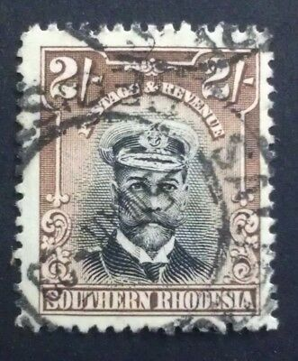 Southern Rhodesia 1924 2/-  two 2 shillings 2s brown black  SG 12 SG12 captain