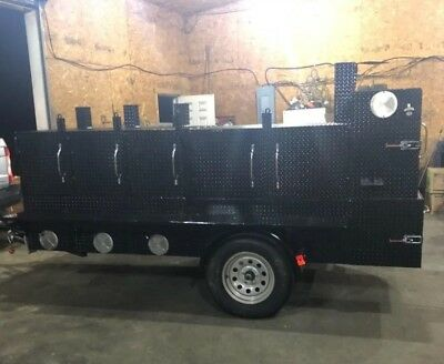 Shish Kebob BBQ Smoker 3 Grills Trailer Food Truck Mobile Catering Restaurant