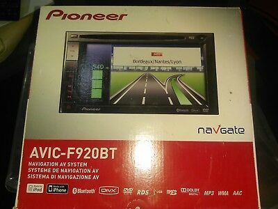 Pioneer AVIC F920BT Double Din Navigation AV Receiver With Bluetooth DVD PLAYER