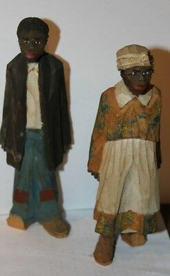 Adrian Woodall Wood Carving Africian Americana folk art Couple