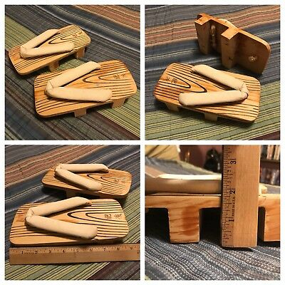 Japanese Wooden Sandals, Geta, Mens/Womens, S-M (US Sizes 7.5-9)