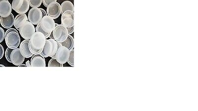100 White Plastic Water Bottle Caps, GREAT For Crafts - FREE US SHIPPING!!!