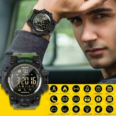 Bluetooth Smart Watch Wristwatch Sports Pedometer Fitness Tracker 50M Waterproof