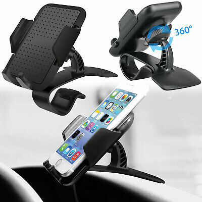 360 Degree Car Dashboard Clip Phone Mount Holder for iPhone X/8/7/6 Galaxy S9/S8