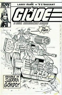 IDW GI Joe Real American Hero 196 RI variant Larry Hama sketch RAH